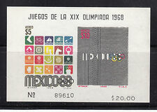 Mexico 1968 Air Olympics MS  Sc C344a   mint never hinged