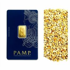 2.5 G PAMP SUISSE .9999 LADY FORTUNA GOLD BAR + 10 PIECE ALASKAN PURE GOLD NUGS