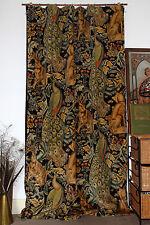 "William Morris Forest Velvet & Velvet Lined Door Curtain 84"" Drop M2M"