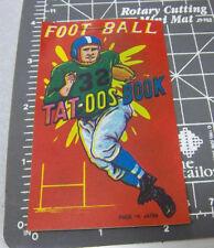 Vintage 1950s Football Tat-oos Book fantastic graphics & color tattoos wont work