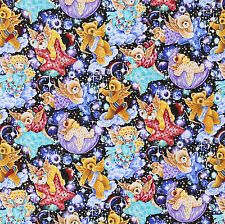 NEW Angel Bear 100% cotton fabric by the yard