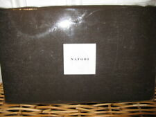 Natori SUZANI Tailored Queen Bedskirt Chocolate Brown Linen Cotton $190