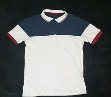 Merc - White and navy-blue polo shirt / Weißes und dunkelblaues Poloshirt / S