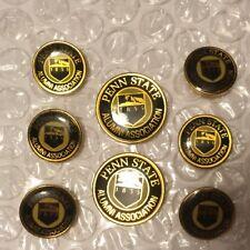Penn State Alumni Association Men's Blazer Button Set Navy Blue Gold 1855 Logo