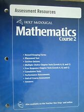 Holt McDougal Mathematics Course 2 Assessment Resources 9780554007168