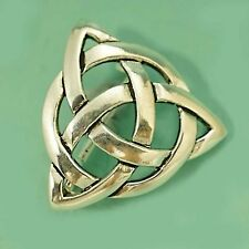 Classic Silver Celtic Triquetra Trinity  Brooch Pin 25mm For Hat Jacket Tie
