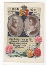 Wuerttemberg King & Queen 1886 1911 Germany Royalty Vintage Postcard US094