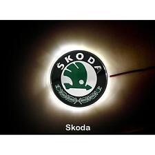 Waterproof LED Car Tail Logo White Light Auto Badge Emblem Lamp For Skoda Superb