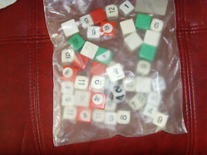 6x7 in bag of assorted dice numbered game pieces pawns replacement craft upcycle
