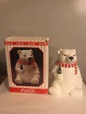 Coca Cola Vtg Cookie Jar Always Cool Polar Bear 1994 Issue Holiday Christmas