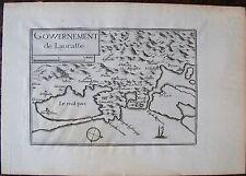 CARTE GOUVERNEMENT DE LAUCATTE . Par TASSIN. Carte originale de 1633.  Dimension