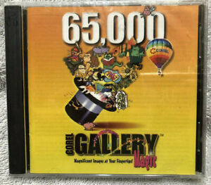 Vintage Classic Software- 65,000 Corel Gallery Magic Disc- Win 3.1 Win 95 CDROM