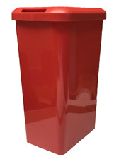 45 Litre Touch Top RED Kitchen Bin Rubbish Waste Dustbin Rectangle Plastic
