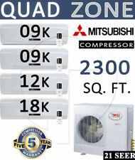 48000 BTU QUAD Zone Ductless Mini Split Air Conditioner - Heat pump