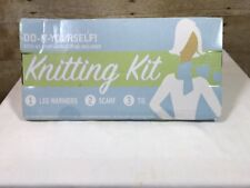 Do It Yourself: Knitting Kit Make 1 of 3 projects, scarf, tie, leg warmers