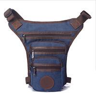 New Drop Leg Bag Motorcycle Rider Men Canvas Outdoor Sport Belt Waist Fanny Pack