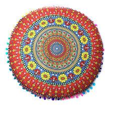 Indian Mandala Floor Pillows Round Bohemian Cushion Cushions Pillows Cover Case