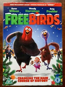 Free Birds DVD 2013 Christmas Turkey Animated Family Movie with Slipcover