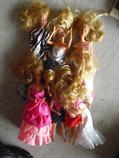 Lot of 7 Vintage Barbie and Friends Dolls in Clothes
