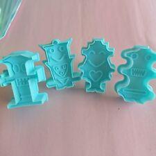 4x Robot Fondant DIY Cake Decor Sugarcraft Baking Cookie Cutters Mould