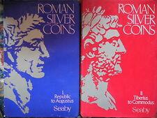 2 cataloghi Roman silver coins monete romane
