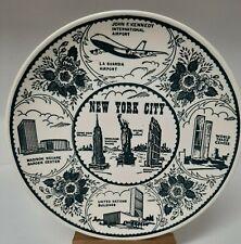 Vintage Enco Ironstone NYC Landmark Plate. World Trade Center. Amazing!