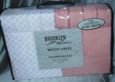 Qty 2-6 Piece Sets Brooklyn Loom Cal King Sheet Sets 8-Pillow 2-Flat 2-Fitted