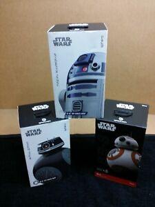 Lot 3 Sphero Star Wars BB-9E BB-8 R2-D2 APP-ENABLED DROID MINT CONDITION