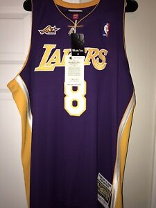 MITCHELL & NESS LOS ANGELES LAKERS KOBE BRYANT AUTHENTIC 2/13/2000 JERSEY 2XL 52