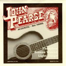 1 Set! John Pearse 600 600L Acoustic Guitar Strings - Phosphor Bronze .012-.053W