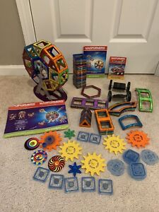 Magformers Huge Lot Of 130+ Pieces Includes Ferris Wheel And More