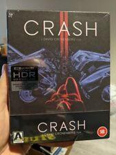 Crash (1996) Arrow Video Limited Edition (Blu-ray + 4K UHD) BRAND NEW!!