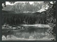 Lago di Carezza ( Bolzano ) - cartolina viaggiata nel 1958