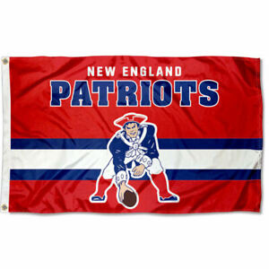 3x5 Foot New England Patriots Throwback Retro Vintage Logo Flag