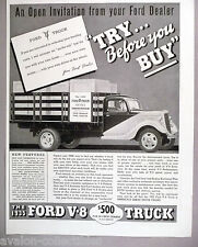 Ford V-8 Truck PRINT AD - 1935 ~~ trucks