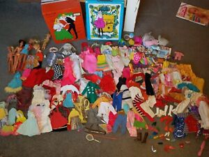 1960's Barbie & Friends Clothing, Accessories, Dolls, Cases, Huge lot no reserve