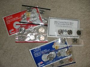 2004 P & D Philadelphia & Denver Uncirculated Mint SET