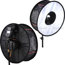 "18""Easy-fold Ring Speedlight Flash Softbox Diffuser Reflector -Macro Photography"
