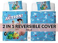 Habigail Official Toy Story 4 Single Duvet Cover Takin Action Design | Reversibl