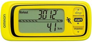 HJA-300-Y Jog style Fine yellow Pedometer measuring/ OMRON