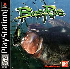 BASS RISE Fishing SONY PlayStation I PS1 Video Game by BAN DAI MEGABASS