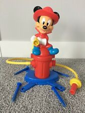 New listing Vintage Disney Fireman Mickey Mouse Lawn Sprinkler Kids Water Play Toy with Hose