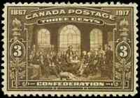 Canada #135 mint VF OG NH 1917 Fathers of Confederation 3c brown CV$210.00