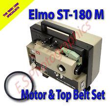 Elmo st-180 M SUPER 8mm Sound cine proiettore Cinture Set di 2