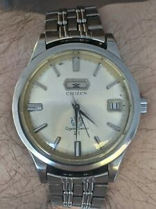 Vintage '66 Citizen Crystal Seven Watch, JDM, Orig Band, ParaWater, Works