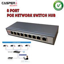 POE 8 Port Network Ethernet switch HUB 48V for IP Cameras Power Over Ethernet