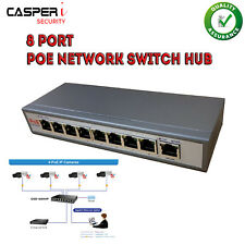 POE 8 porte di rete Ethernet Switch Hub 48 V per Videocamere IP Power Over Ethernet