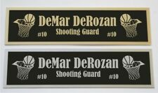 DeMar DeRozan nameplate for signed basketball photo jersey or case