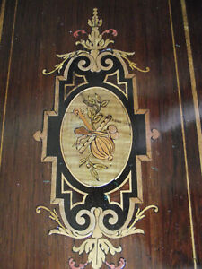 Antique Music box with nice marquetry