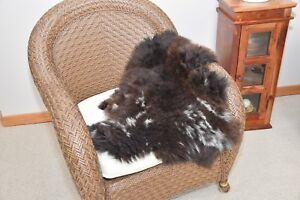 "Unique Sheepskin Area Rug Soft Under Foot Dense Wool 33x27"" T7 Great for babies"